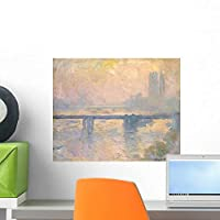 Charing Cross Bridge Houses Wall Mural by Wallmonkeys Peel and Stick Graphic (18 in W x 15 in H) WM185954 [並行輸入品]