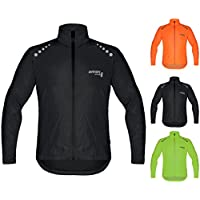 Brisk Bike Ultra-Light All Weather Waterproof Sports rain Jacket for Cycling, Training rain wear Bicycling Sailing, Boating Surfing Parasailing, Rowing, Jacket Beach Running Jacket Wind Stopper.
