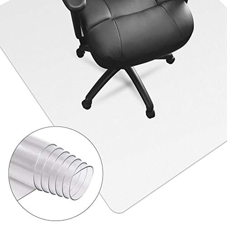 HUASUN チェアマット 100 * 120cm 厚さ1.5mm 机の下 椅子 デスク足元マット 透明PVC 傷防止滑り止め オフィス/フロア/畳/床暖房 保護