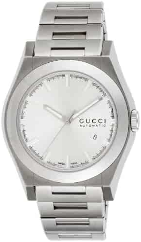 9ae2a15c58e  Gucci  Gucci Pantheon Quartz Wrist Watch Silver Dial Stainless Steel Case  Stainless Steel Belt