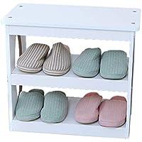 QFF 木製多層靴ベンチ、シンプルストレージスツールモール靴店入り口家庭用多機能防塵靴ベンチ 多層 (色 : C, サイズ さいず : 50 * 27 * 45CM)