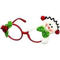 OUTEYE クリスマス だて眼鏡 キッズ メガネフレーム おしゃれ 子供 クリスマス用品 コスプレ小物 小道具 男女兼用