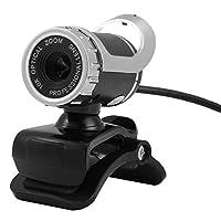 USB ウェブカメラ ビデオ HD ウェブカメラ 内蔵サウンド吸収マイク コンピュータ PC ノートパソコン (ブラック)