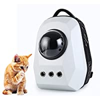 Benchmart ペットキャリーバッグ 宇宙船カプセル型 リュク ペットバッグ 犬猫兼用 キャリー 旅行 お出かけ便利 2WAY 散歩用 ダイヤモンド (ホワイト)