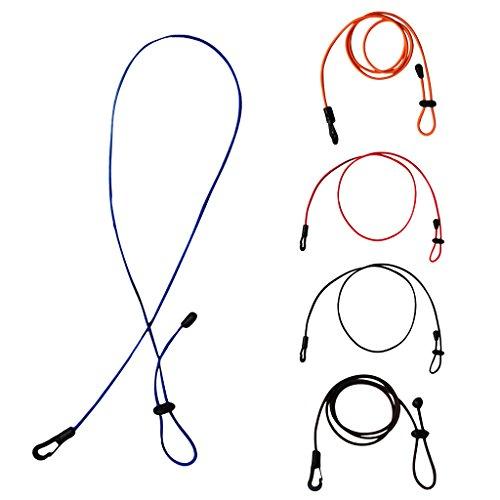 [해외]Lovoski 5 개 120cm 탄성 카누 패들 묶어 쇼크 코드 로프 낚싯대 폴 홀더 밧줄 클립/Lovoski 5 pieces 120 cm elastic kayak canoes paddle leash shock code rope fishing rod pole holder tether clip