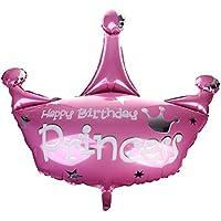SONONIA ベビーシャワー 出産祝い 子供 誕生日 パーティーの装飾 クラウン型 王冠 ホイル バルーン 風船 ピンク