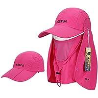 iCOLOR 帽子 完璧 紫外線対策?日焼け防止 3way フェイスカバー 付き UVカット