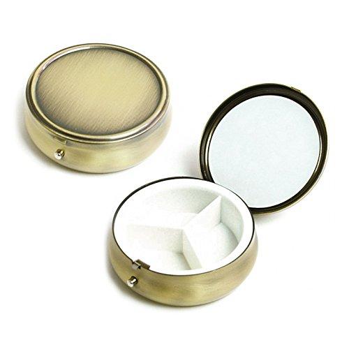 [해외]NBK 알약 케이스 원형 φ61mm 앤틱 골드 A8-42/NBK pill case Round type φ61 mm antique gold A 8 - 42