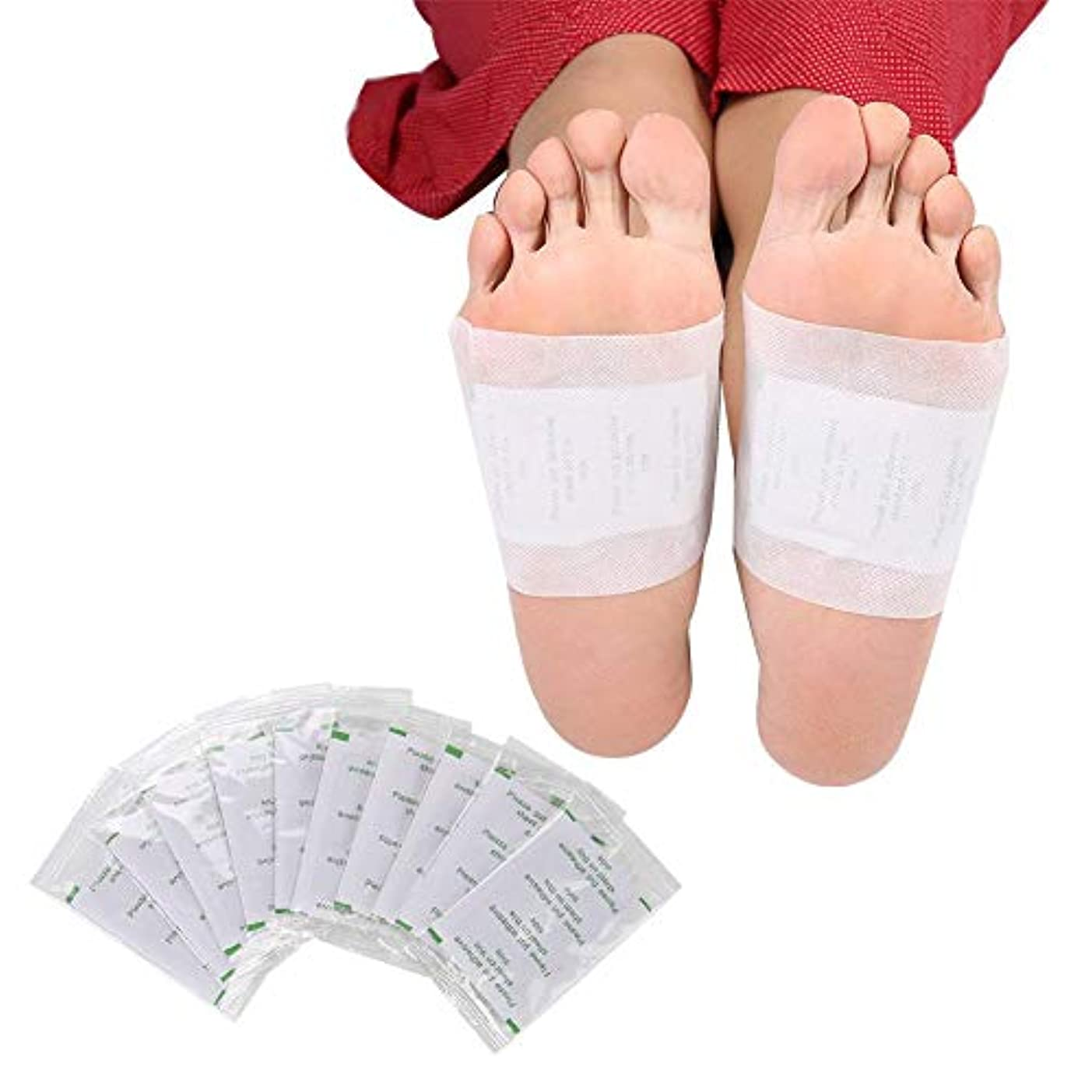 未接続免疫する火山学ボディデトックスフットパッチ、女性と男性の看護の足に最適なヘルスケアフット接着パッド除去毒素ストレス回復
