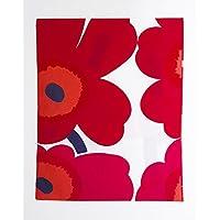 marimekko UNIKKO PC 50*60 067682 WHT RED レディース 枕カバー ピロー ケース マリメッコ [並行輸入品]