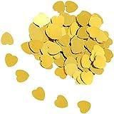 D DOLITY 約30g 紙吹雪 ハート 心の形 キラキラ パーティー装飾 写真小物 2色選べ  - ゴールド