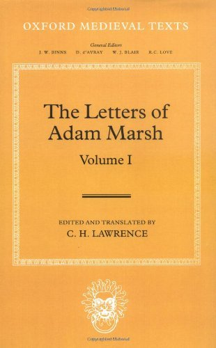 The Letters of Adam Marsh (Oxford Medieval Texts) (English Edition)