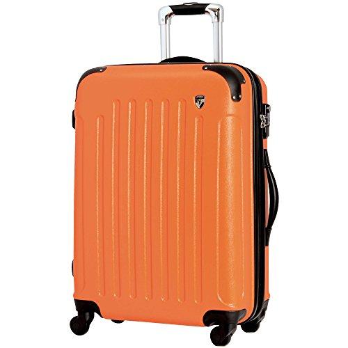 TSAロック搭載 スーツケース キャリーバッグ newFK10371 オレンジ L型(7~14日用) マット加工ファスナー開閉タイプ