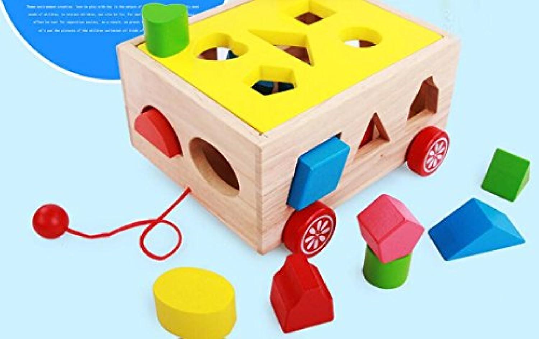 HuaQingPiJu-JP 子供のための車の教育形状の色の認識のおもちゃを並べ替える創造的な木の形のソーター幾何学的な並べ替え
