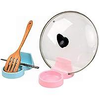 おたま置き おたま立て 菜箸 鍋蓋 まな板 しゃもじ 多機能 スタンド キッチン アイデアグッズ 衛生的 (ブルー)