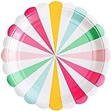 8PCペーパープレートケーキディッシュパーティーのテーマ用品 - A9
