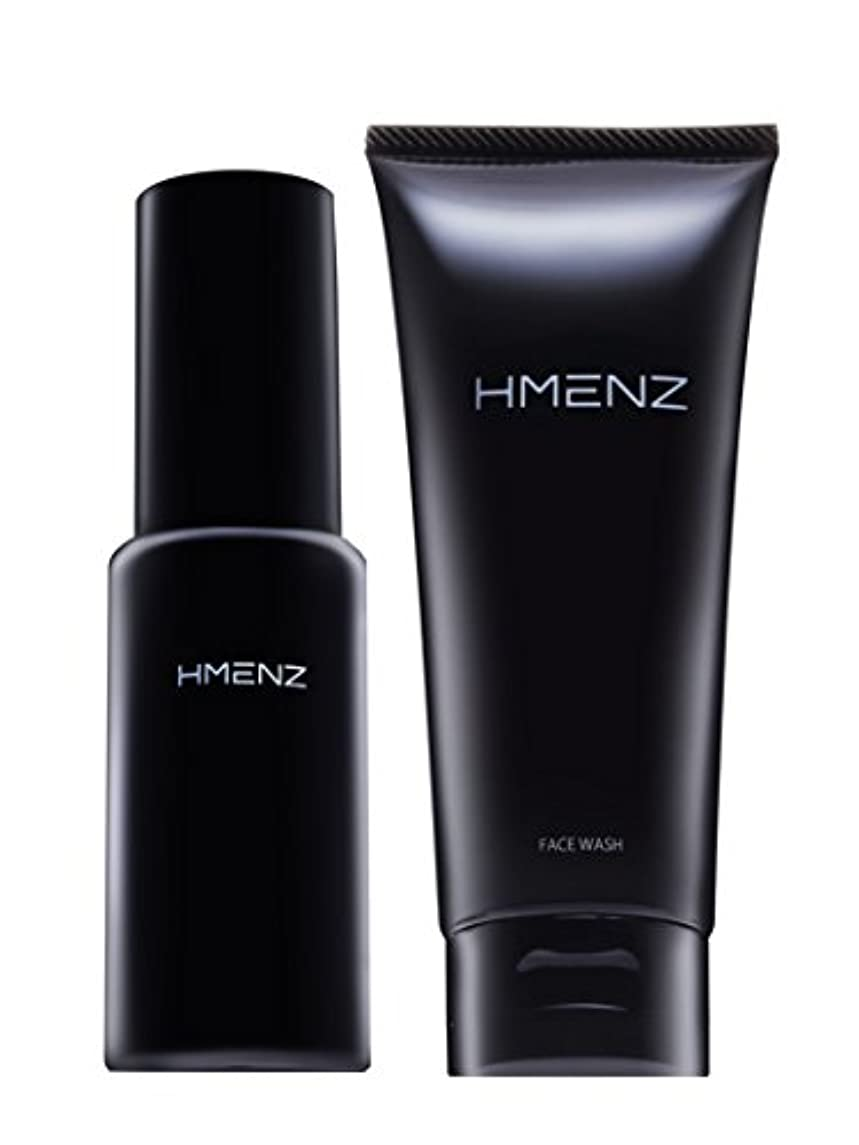 ユーモア溶かす類推医薬部外品【 スキンケア セット 】HMENZ メンズ 洗顔 & 美容液 乾燥肌 対策 保湿 (無添加 シミ対策 ニキビ対策 エイジングケア) 洗顔 オールインワン ジェル 100g&50ml