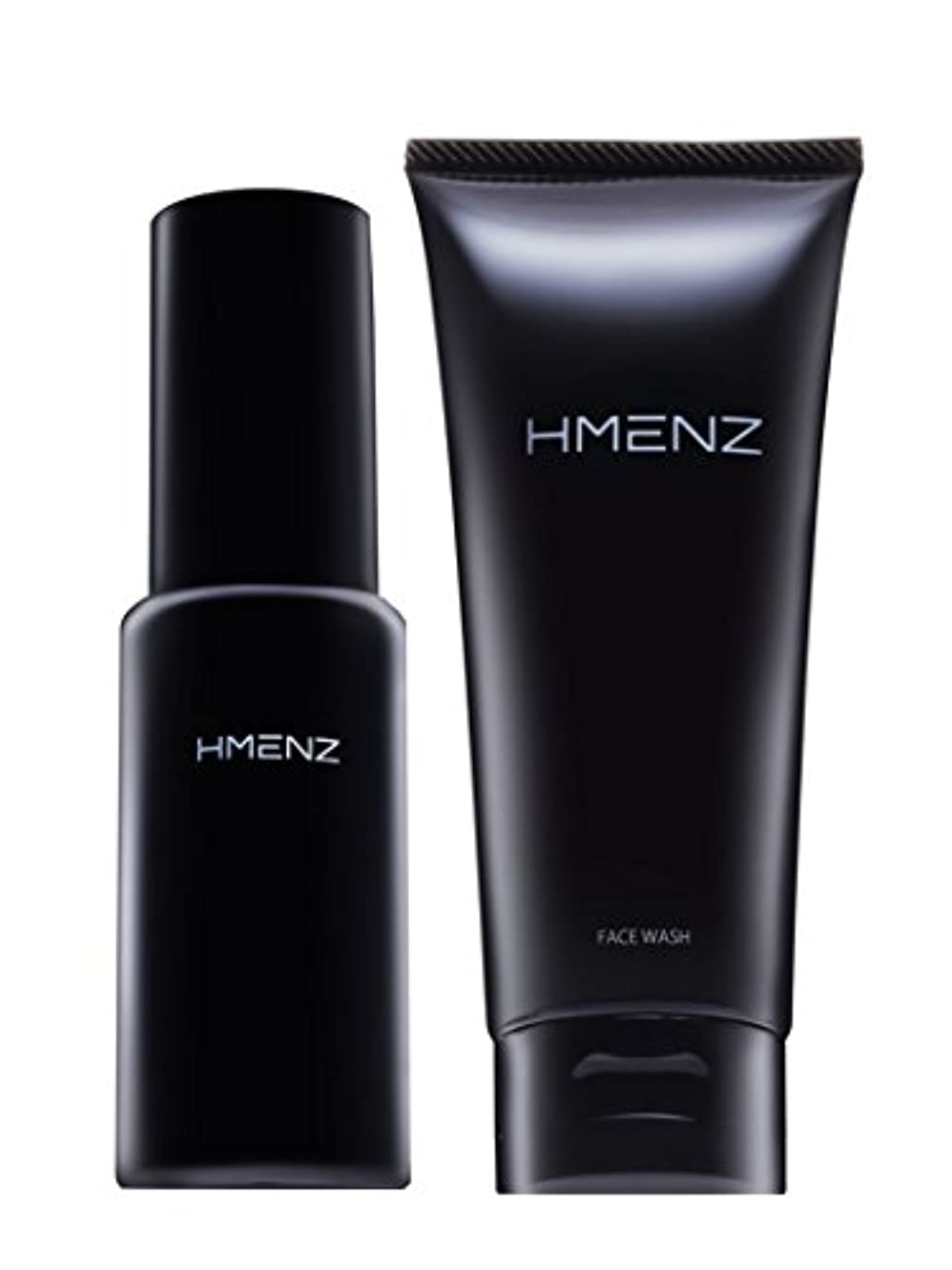 包帯アルファベット硬い医薬部外品【 スキンケア セット 】HMENZ メンズ 洗顔 & 美容液 乾燥肌 対策 保湿 (無添加 シミ対策 ニキビ対策 エイジングケア) 洗顔 オールインワン ジェル 100g&50ml