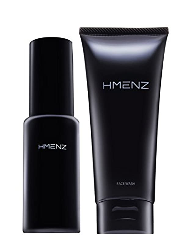 医薬部外品【 スキンケア セット 】HMENZ メンズ 洗顔 & 美容液 乾燥肌 対策 保湿 (無添加 シミ対策 ニキビ対策 エイジングケア) 洗顔 オールインワン ジェル 100g&50ml