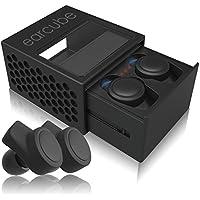 完全ワイヤレスイヤホン earcube (イヤーキューブ) 最小最軽量4.5g Bluetooth4.2 IPX4防水防汗 スポーツ対応 AAC 技適認証済 (1-ブラック)