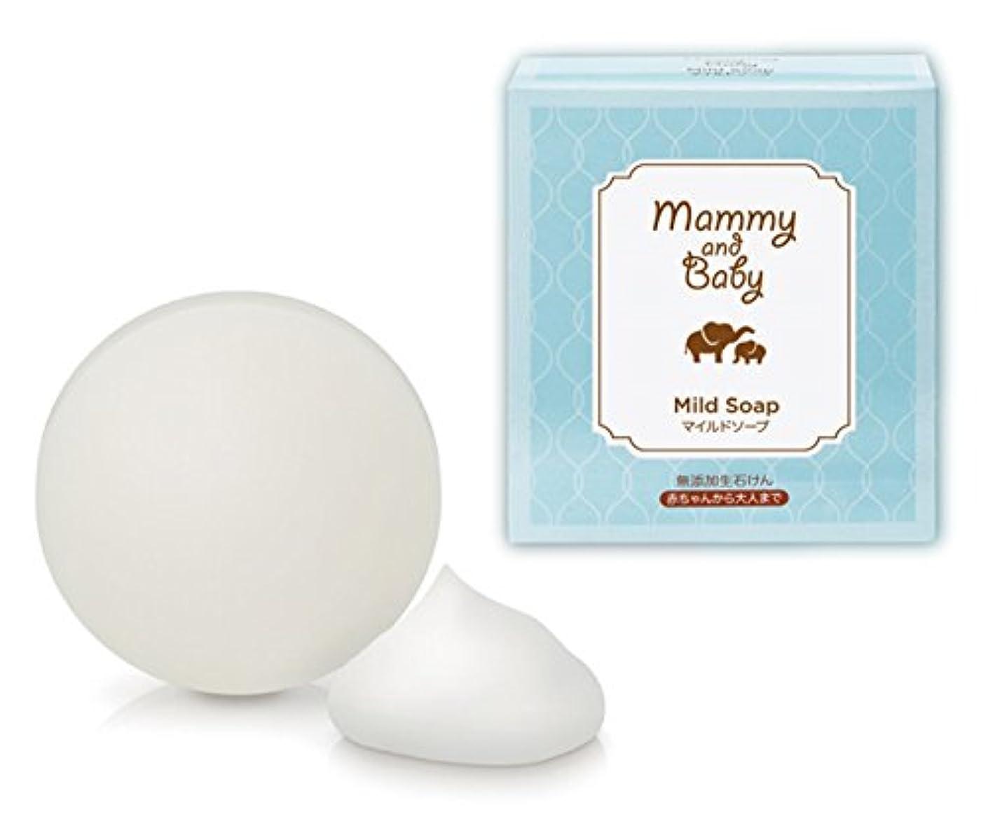 掃く歩道柱Mammy & Baby マイルドソープ 無添加生石鹸 2個組