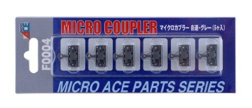 マイクロエース Nゲージ マイクロカプラー・自連・グレー6個入 F0004 鉄道模型用品