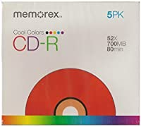 Memorex Cool Colors CD-R 52X 700MB 80 min (5 Pack) [並行輸入品]