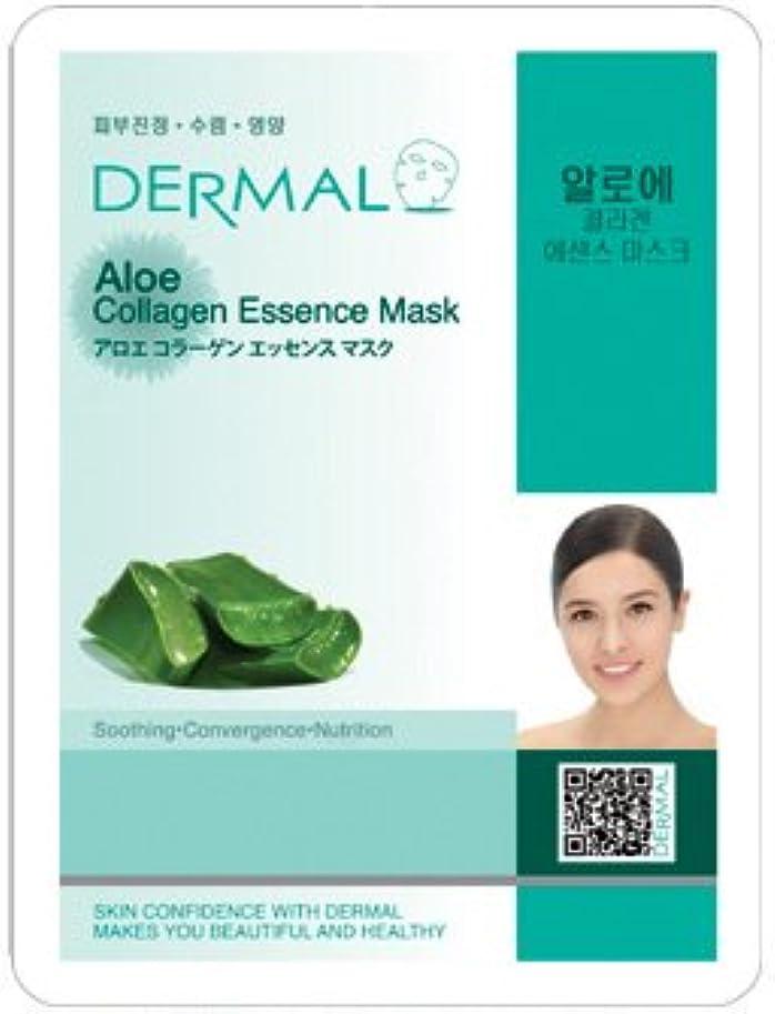 増加するワーム引き出しダーマル(Dermal) シートマスク アロエエッセンスマスク 100枚セット フェイス パック