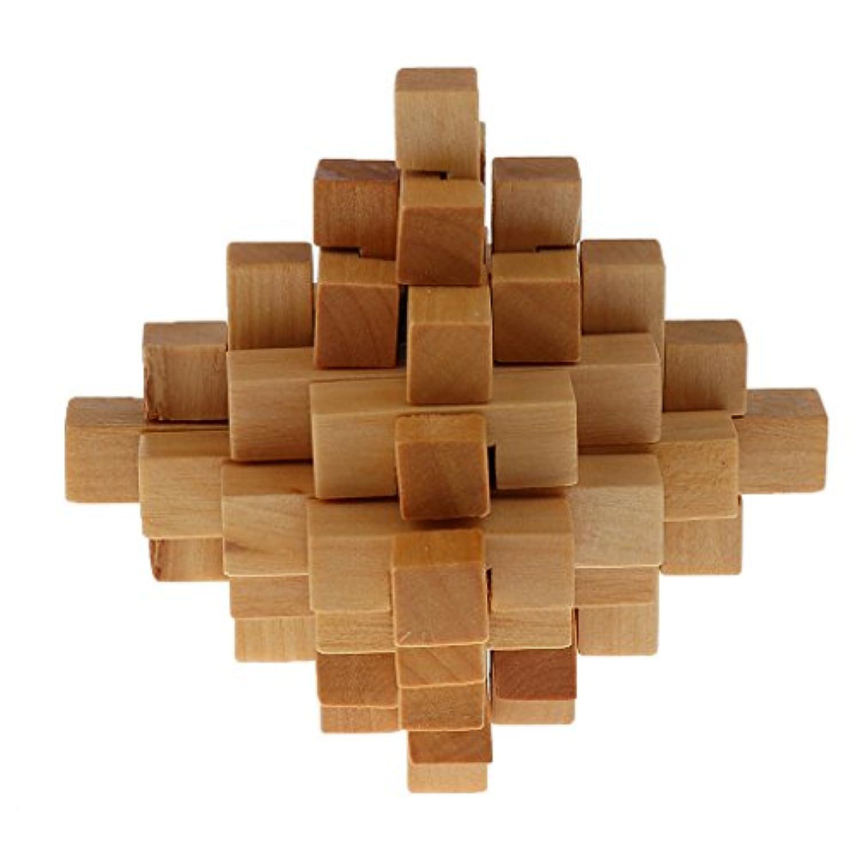 ノーブランド品 パイナップル型 孔明ロック インターロック ジグソーパズル 知育 知的玩具 児童 大人 積み木 ギフト