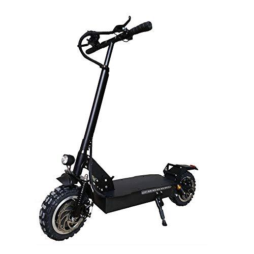 電動 キックボード キックスクーター 23.4Ah 60V 1600W折りたたみ電動スクーター最高速度毎時60キロマックス。シート・EUプラグなしで200キロのシングルモーターフロントホイール衝撃吸収 大人と子供向けの電動ブレーキ
