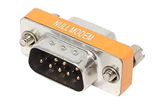 DB9オス - DB9メス ヌルモデム(リバース クロス ロールオーバー)小型コネクタ (NULL MODEM)