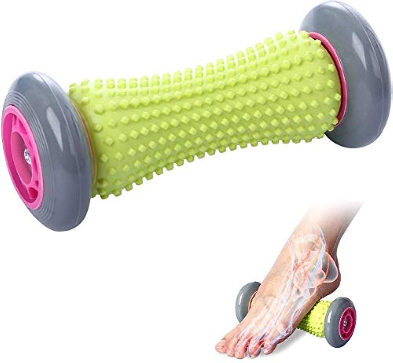 壊滅的なゼロ円形の背中の痛みとディープティシュトリガーポイント回復タイトな筋肉の手脚背中の痛みの治療足底筋膜炎リフレクソロジー筋筋膜指圧リリースのための足底筋膜炎足ローラーマッサージ