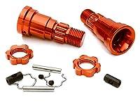 Integy RC Model Hop-ups C27095RED Billet Machined +0mm Ext. Stub Axles for C27070, C27071 & C27072