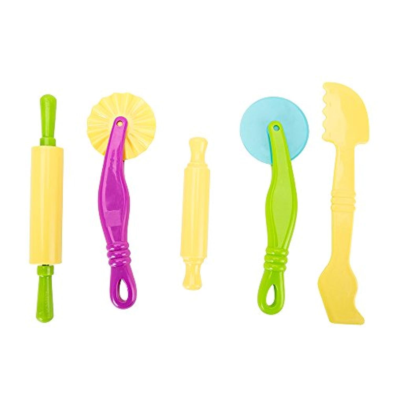 Littlegrassjp 20個ねんどのお道具セット ねんど 道具 粘土 道具 ねんど 型 セット 粘土 幼児 ねんどツール 子ども達がねんどを楽しむことが出来ます 色はランダムです