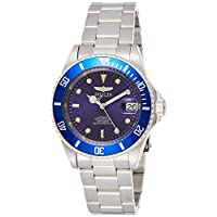 Invicta Men's 9094OB Pro Diver Collection Stainless Steel Watch with Link Bracelet, Silver/Blue