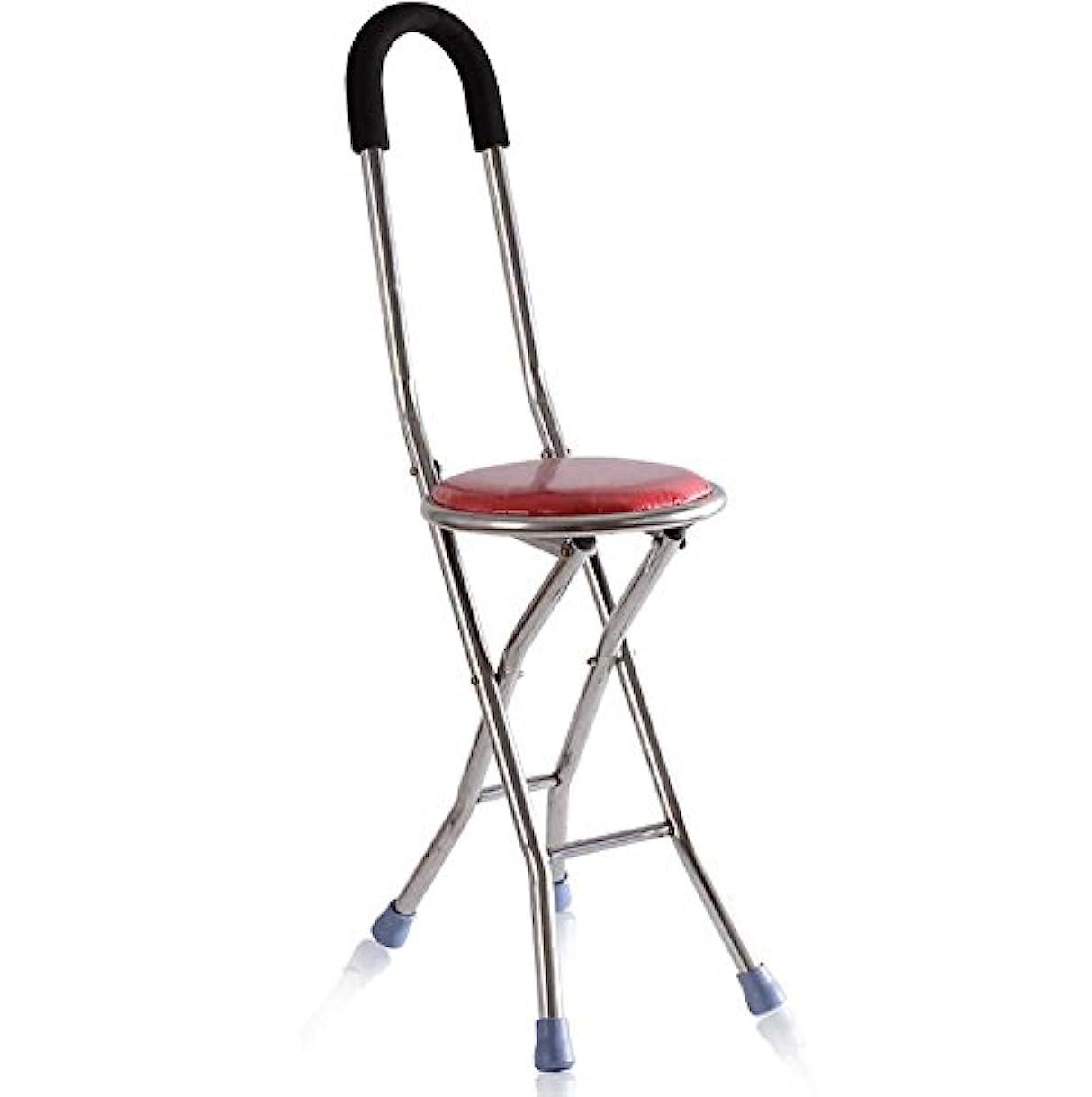 サーフィンサーフィン保証金onfly Folding Walking Stick StoolステンレススチールCane Stoolスツール4-legged elderlyポータブル松葉杖スツールノンスリップ多目的折りたたみシートCane