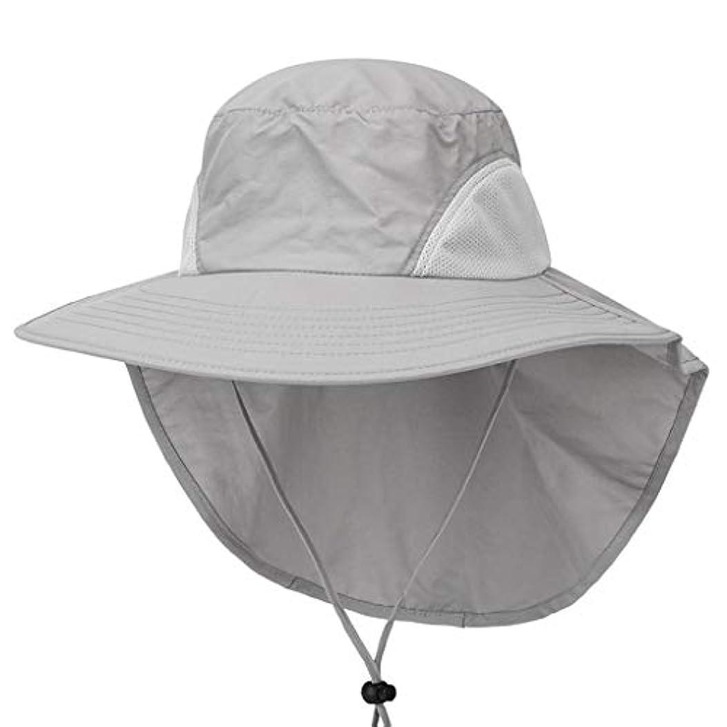 致命的料理少年Sttech1 サンハット メンズ&レディース 幅広つば 夏用帽子 釣り、ハイキング、キャンプ、ボートやアウトドアアドベンチャー用防水 湿気を吸収して外に出すナイロンで涼しく