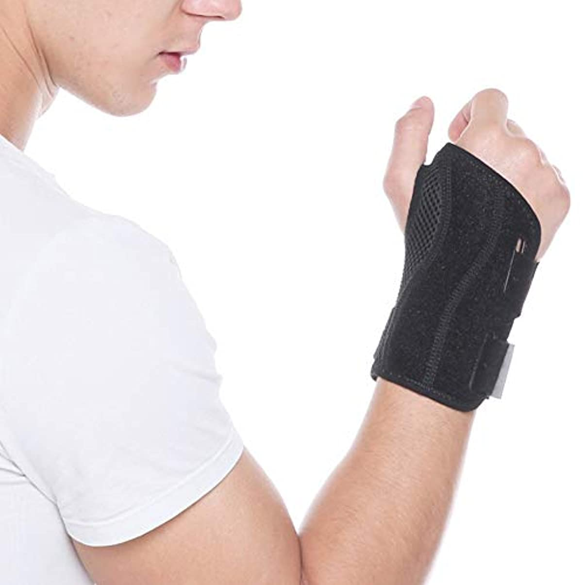 テザーガイドライン非公式手首のサポートの痛み手根管症候群は、右左手のための安定化のサポートを和らげます