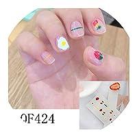 ネイルズステッカー14Tipsイチゴステッカーネイルアートラップマニキュアインスタイルステッカー接着剤マニキュア装飾、Qf424