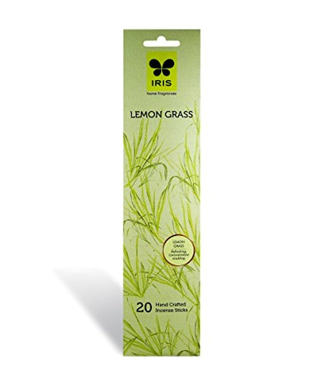 シュリンク是正追放IRIS Signature Lemon Grass Fragrance Incense Sticks