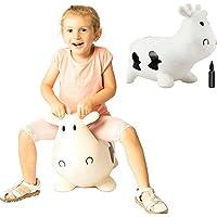 ホッピング牛乗用玩具 木馬室内遊具 ゴム製空気入れおもちゃポンプ付き バランスおもちゃ バウンス牛