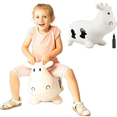 ホッピング牛乗用玩具 木馬室内遊具 ゴム製空気入れおもちゃポ...