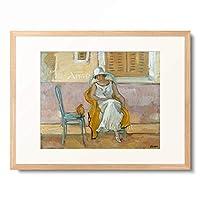 アンリ・ルバスク Henri Lebasque 「Woman in a White Dress. About 1923」 額装アート作品