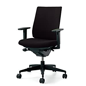 コクヨ オフィスチェア ウィザード2 CR-G1833F6G4B6-V ハイバック 可動肘 樹脂脚 ブラックシェル 布/ブラック
