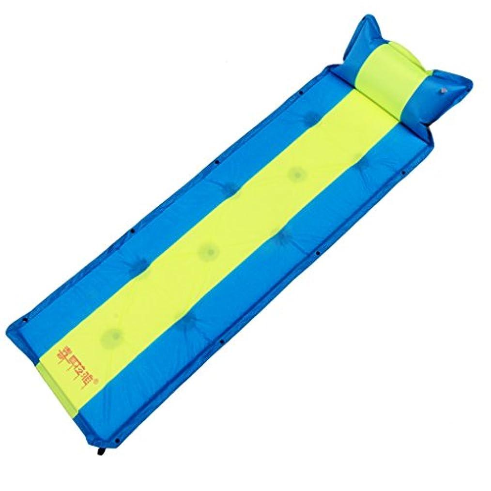 ほんの男やもめいたずらなGYP 車のローディングベッド、屋外の自動インフレータブルパッドシングルとダブルは、より厚い多機能水分バリアをピクニックビーチスリーピングパッド194 * 56 * 3CMをステッチすることができます ( 色 : A )