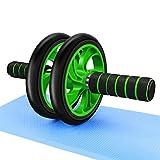 腹筋ローラー 筋トレ腹筋ローラー 超静音 保護マット付き 膝を保護す 初心者に向きます アブホイール (緑)