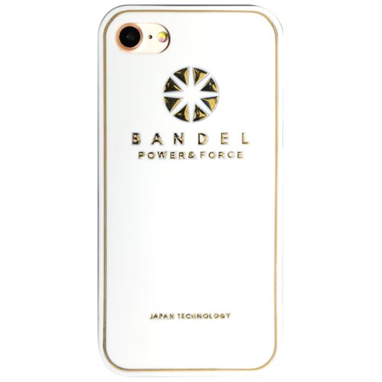 長椅子爆弾ワイドバンデル(BANDEL)iPhone7Plus ケース ロゴ[ホワイト×ゴールド]/スマホケース iPhoneケース iPhone用