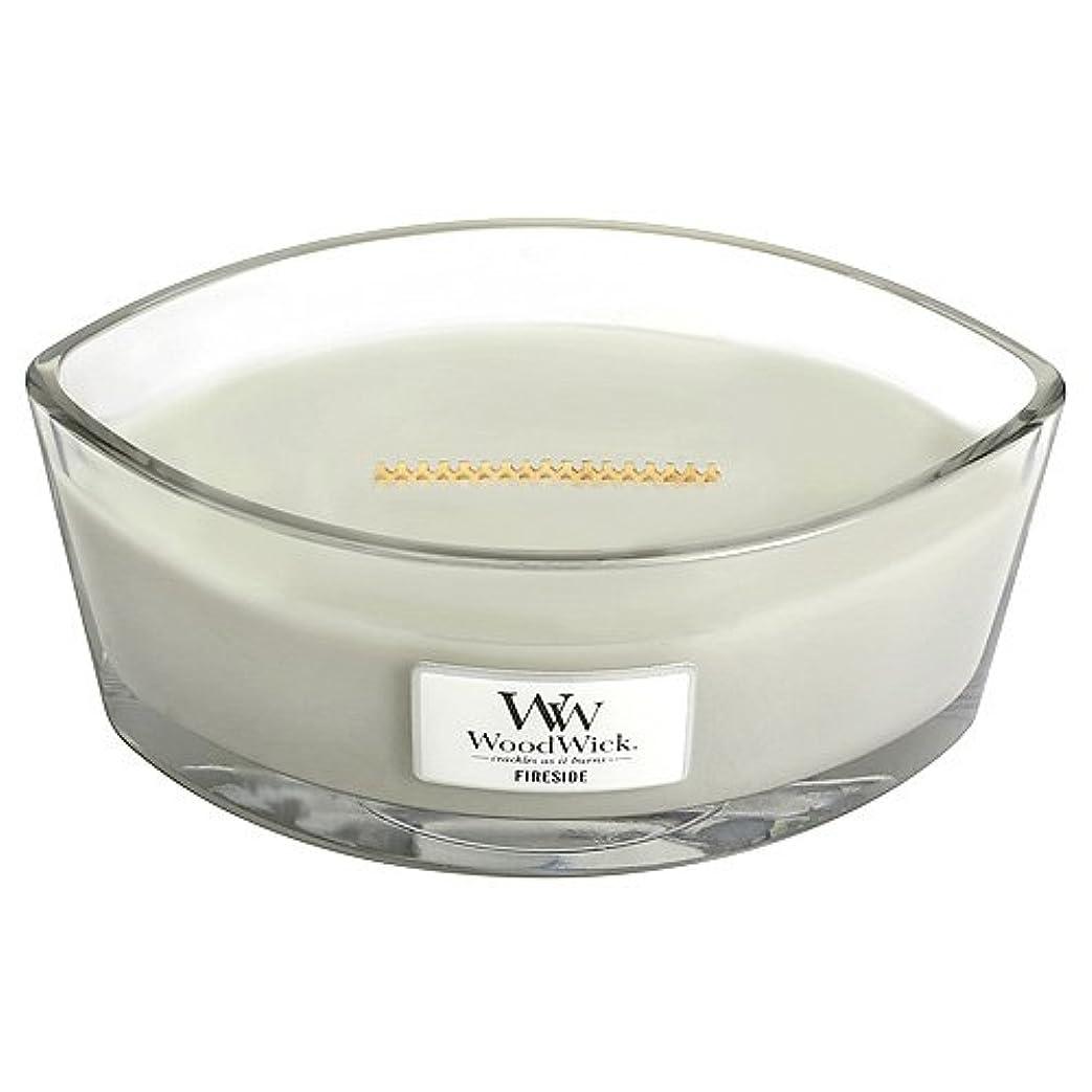 二十覚醒満州WoodWick 76106 Fireside HearthWick Candle, White by Woodwick