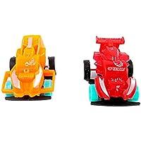 OVERMAL Toy 4pcsスーパーミニ電源バック車4 cm子赤ちゃん早期教育玩具ギフト
