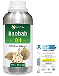 Baobab (Adansonia Digitata) Natural Pure Undiluted Uncut Carrier Oil 2000ml/67 fl.oz.